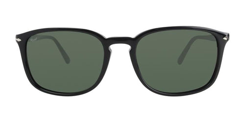 Persol Men's PO3158S Black / Green Lens Sunglasses
