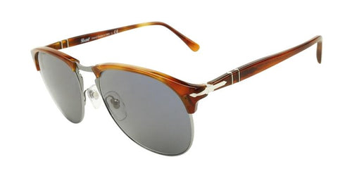 Persol Men's PO8649S Brown / Blue Lens Sunglasses