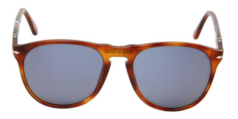 Persol - PO 9649S Tortoise Oval Men, Women Sunglasses - 55mm