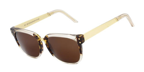 Retrosuperfuture People Clear / Brown Lens Sunglasses