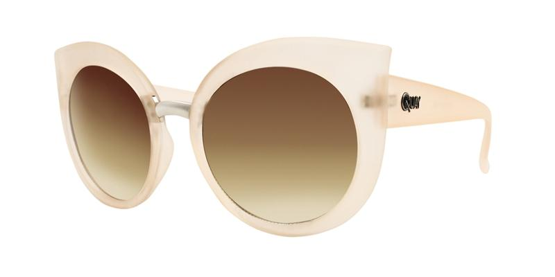 Quay Australia - Dream of Me Beige Oval Women Sunglasses - mm