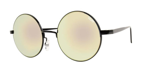 Quay Australia Electric Dreams Black / Gold Lens Sunglasses