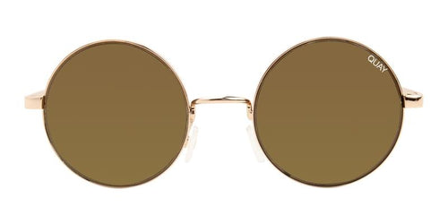 Quay Australia Electric Dreams Rose Gold / Brown Lens Sunglasses