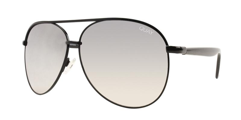 Quay Australia - Macaw Black Aviator Unisex Sunglasses - mm