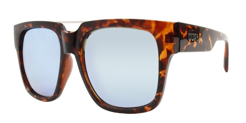 Quay Australia - Mila Tortoise Rectangular Women Sunglasses - mm