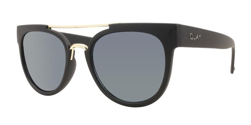 Quay Australia - Odin Black Oval Women Sunglasses - mm