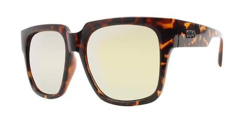 Quay Australia - On The Prowl Tortoise Rectangular Men Sunglasses - mm