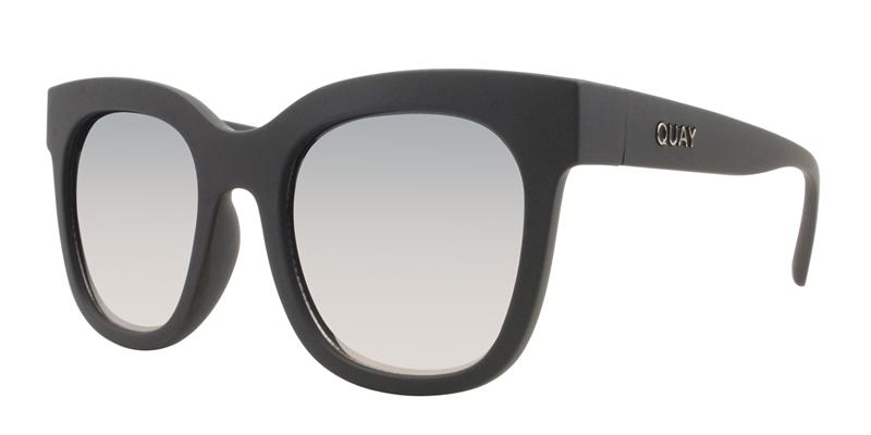 Quay Australia - Sagano Black Rectangular Women Sunglasses - mm