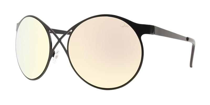 Quay Australia - Sorry Not Sorry Black Oval Women Sunglasses - mm