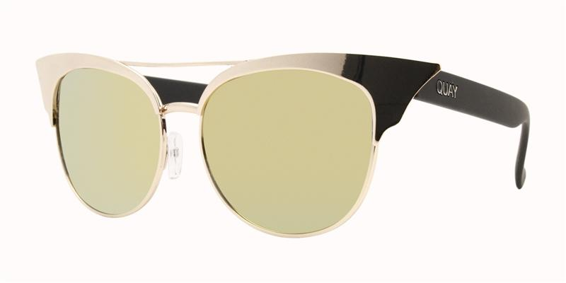 Quay Australia - Zig Gold Oval Women Sunglasses - mm