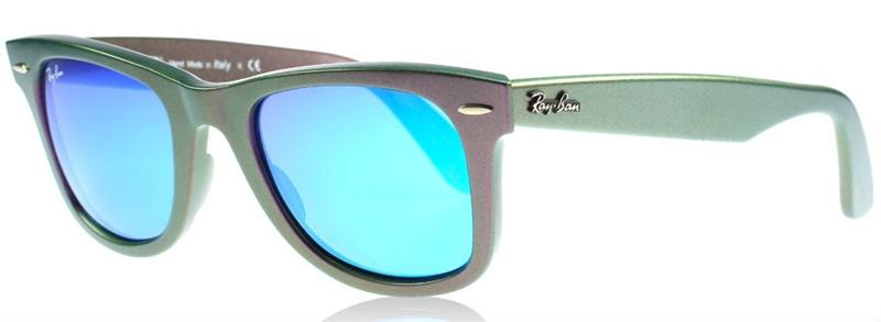 Ray Ban - Original Wayfarer Purple/Gray Mirror Unisex Sunglasses - 50mm