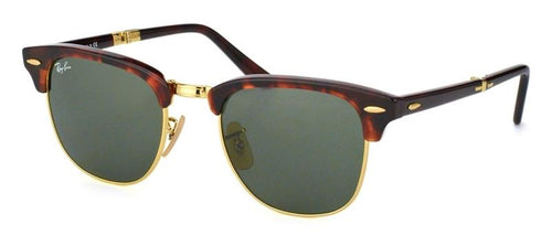 Ray Ban Folding Clubmaster Red Havana Sunglasses RB 2176 990