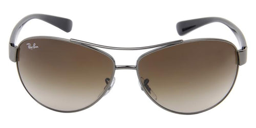 Ray Ban Gunmetal Aviator Sunglasses RB 3386