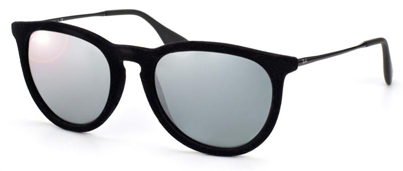763c4d90cb Ray Ban Black Velvet Erika Sunglasses RB 4171 60756G. Frame Color  Velvet  Black Lens Color  Grey Mirror Silver