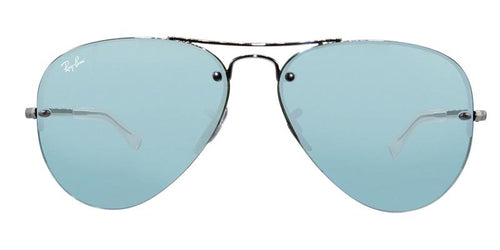 Ray Ban RB3449 Silver / Blue Lens Mirror Sunglasses