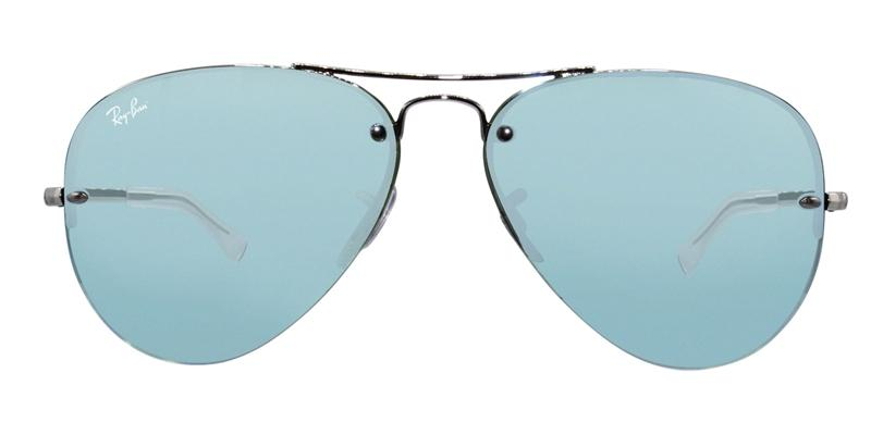 Ray-Ban RB3449 Silver / Blue Lens Mirror