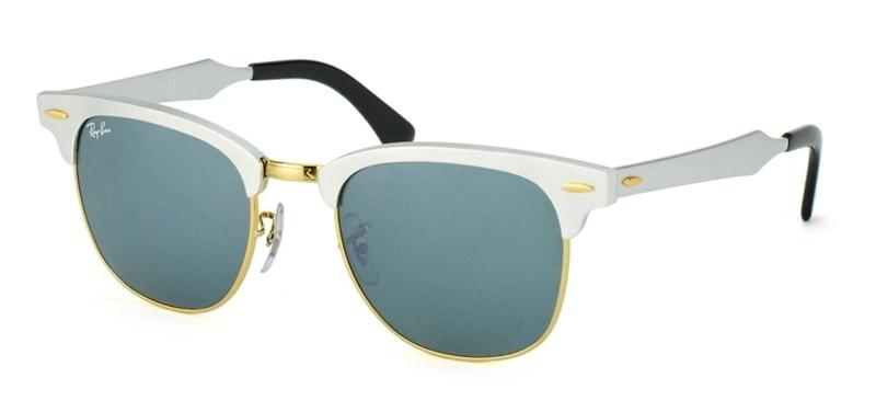 ed981fdc251 Ray Ban Clubmaster Aluminum Silver Sunglasses RB3507 137 40 ...