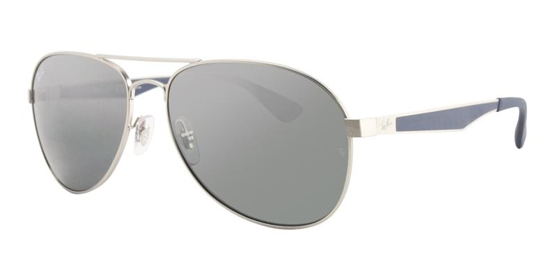 Ray Ban - RB3549 Gray/Gray Mirror Aviator Unisex Sunglasses - 61mm