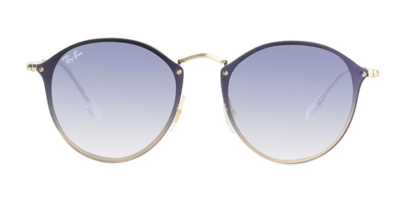 Ray Ban - RB3574N Gold/Blue Gradient Oval Unisex Sunglasses - 59mm