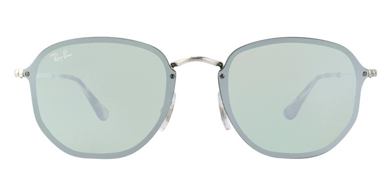 Ray Ban - RB3579N Silver/Silver Mirror Oval Unisex Sunglasses - 58mm