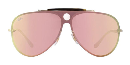 Ray Ban Blaze Shooter RB3581N Gold / Pink Lens Mirror Sunglasses