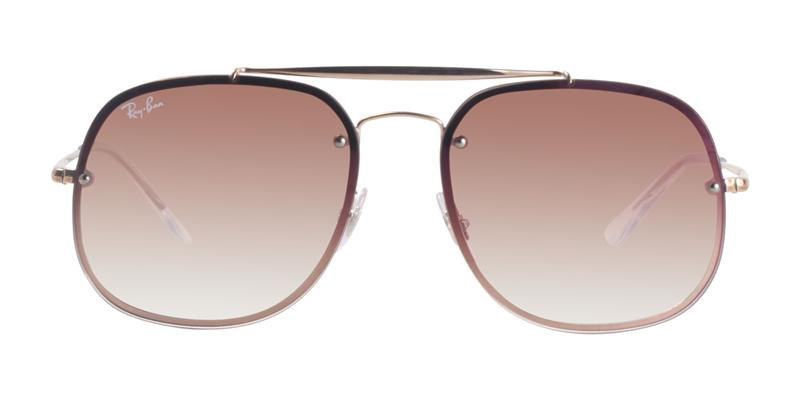 Ray Ban - RB3583N Rose Gold/Pink Gradient Aviator Unisex Sunglasses - 58mm