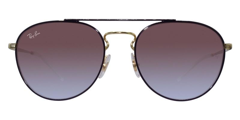 23944b37fde Ray Ban RB3589 Purple Gold   Purple Lens Sunglasses – shadesdaddy