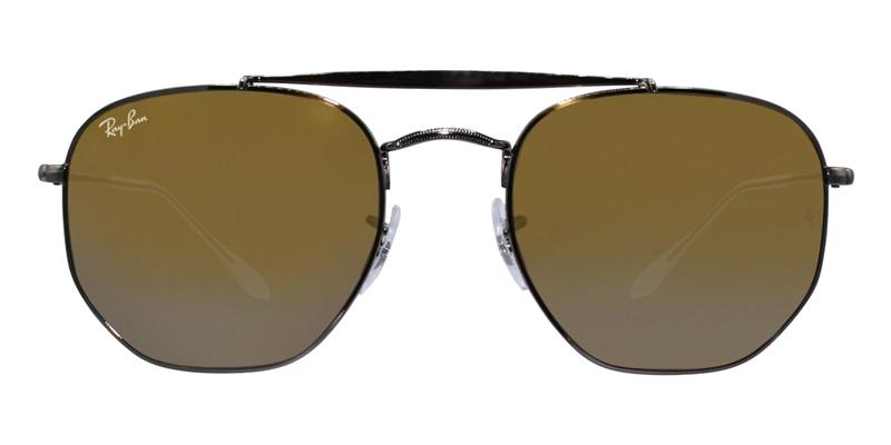 Ray Ban - RB3648 Silver/Yellow Mirror Oval Unisex Sunglasses - 54mm