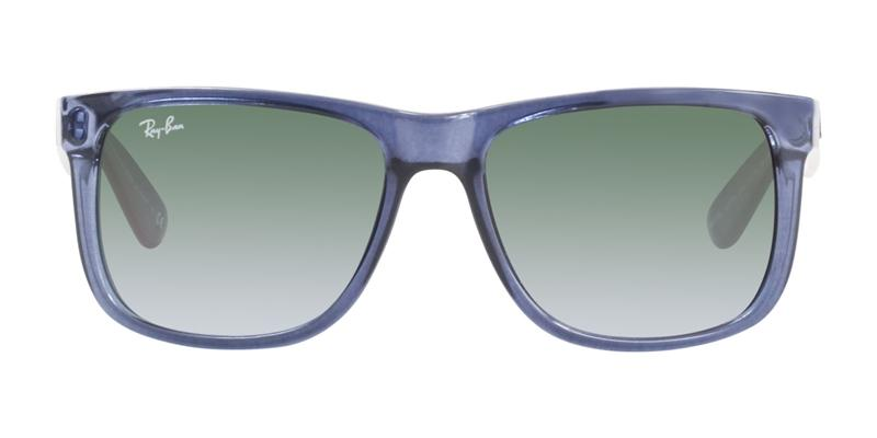 Ray Ban - Justin Blue/Green Gradient Rectangular Unisex Sunglasses - 54mm