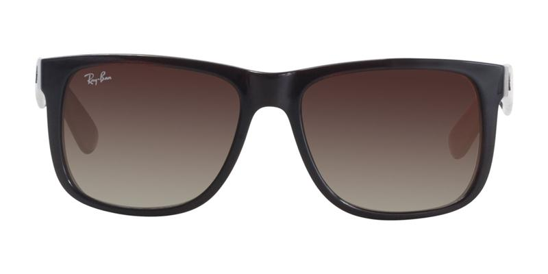 Ray Ban - Justin Brown/Brown Gradient Rectangular Unisex Sunglasses - 54mm