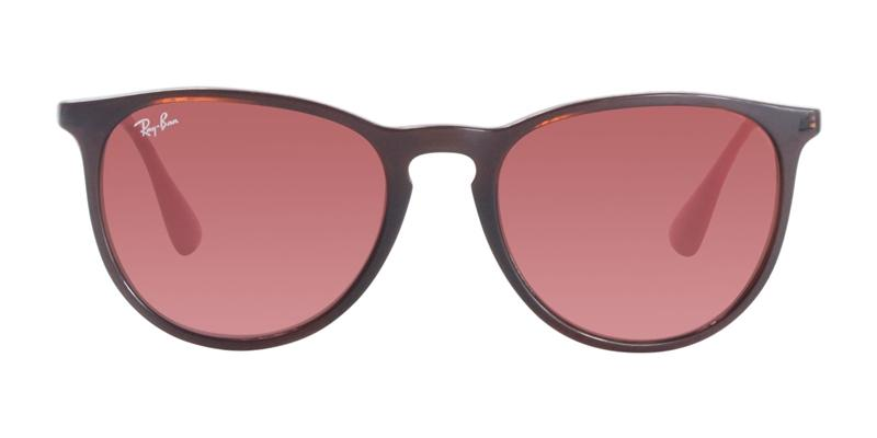 Ray Ban - Erika Brown/Red Oval Unisex Sunglasses - 54mm