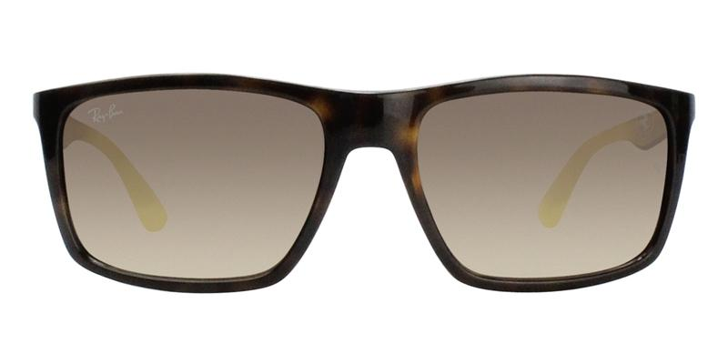 Ray Ban - RB4228M Tortoise/Brown Gradient Rectangular Men Sunglasses - 58mm