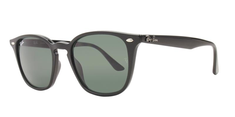 Ray Ban - RB4258 Black/Green Rectangular Unisex Sunglasses - 50mm