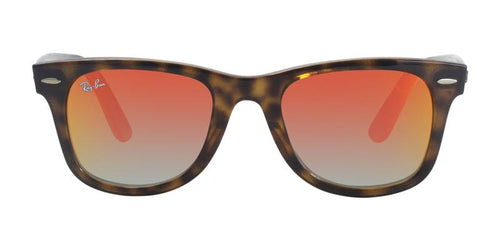 Ray Ban RB4340 Tortoise / Red Lens Mirror Sunglasses