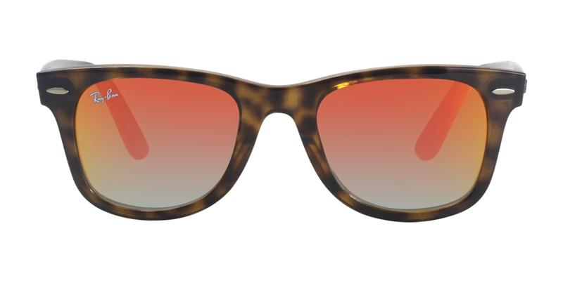 Ray Ban - RB4340 Tortoise/Red Mirror Rectangular Unisex Sunglasses - 50mm