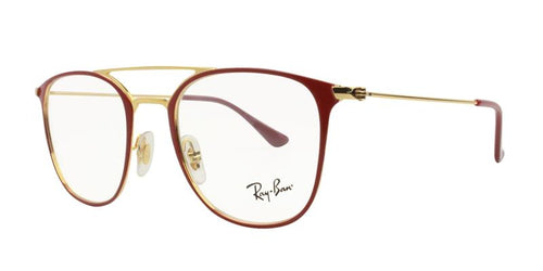 Ray Ban Rx - RX6377 Red Rectangular Women Eyeglasses - 50mm