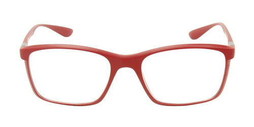 Ray-Ban Unisex RX7036 Red / Clear Lens EyeGlasses