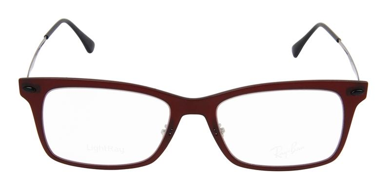 Ray Ban Rx - RX7039 Red Rectangular Unisex Eyeglasses - 53mm