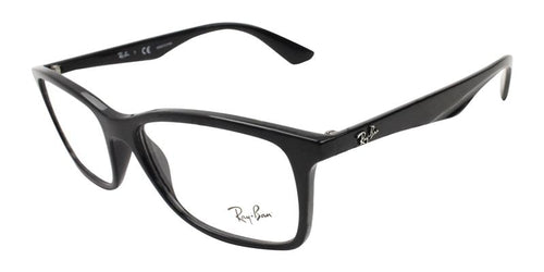 Ray Ban Unisex RB7047 Black / Clear Lens Glasses