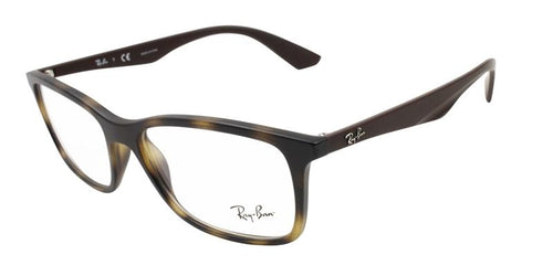 Ray Ban Unisex RB7047 Tortoise / Clear Lens Glasses