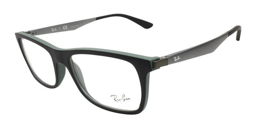 Ray Ban Rx - RX7062 Black Rectangular Men Eyeglasses - 55mm