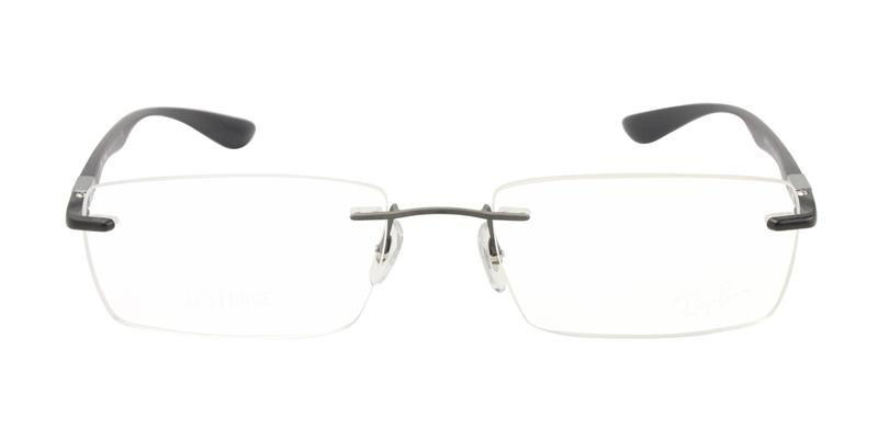 Ray Ban Rx - RX8724 Gray Rimless Men, Women Eyeglasses - 54mm