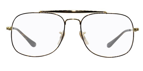 Ray Ban RX6389 Gold / Clear Lens Eyeglasses