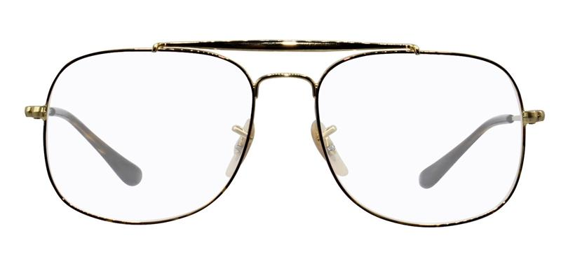 Ray-Ban RX6389 Gold / Clear Lens