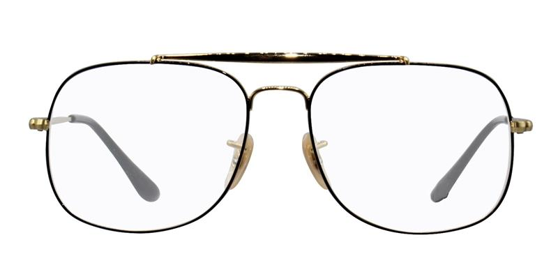 4fc23d8f71 Ray Ban RX6389 Gold Black   Clear Lens Eyeglasses – shadesdaddy