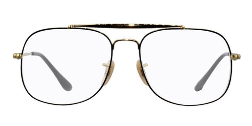 Ray Ban RX6389 Gold Black / Clear Lens Eyeglasses