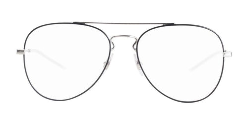 Ray Ban Rx - RX6413 Black Silver Aviator Unisex Eyeglasses - 58mm