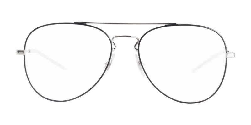 Ray Ban RX6413 Black Silver / Clear Lens Eyeglasses