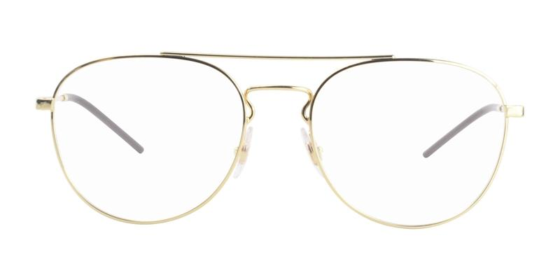 Ray Ban Rx - RX6414 Gold Oval Unisex Eyeglasses - 55mm