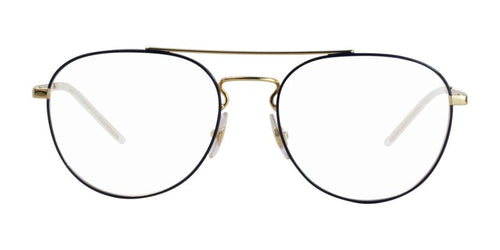 Ray Ban RX6414 Gold Blue / Clear Lens Eyeglasses